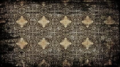 Vintage Grunge Floral Ornament Background Pattern Design