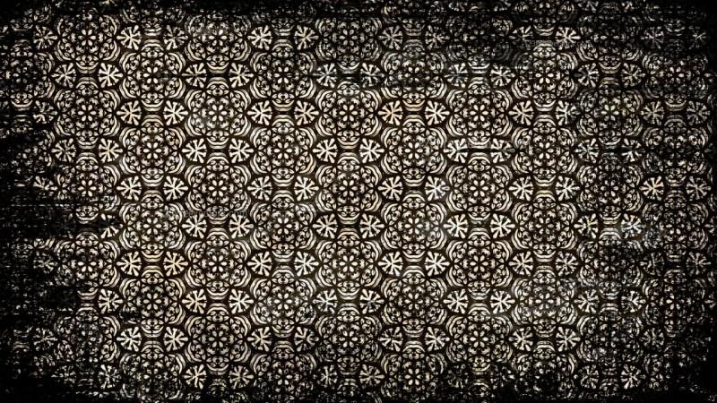 Vintage Grunge Flower Background Pattern
