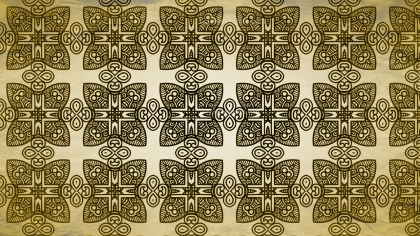Black and Gold Vintage Seamless Wallpaper Background