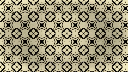 Black and Gold Vintage Ornamental Seamless Pattern Background Design