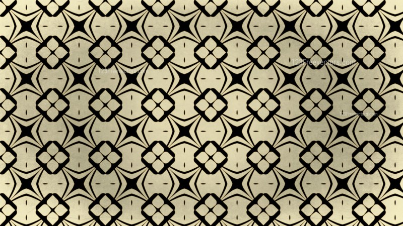 Black and Gold Vintage Ornamental Seamless Pattern Background Design