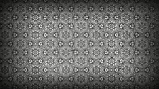 Black and Grey Floral Pattern Background