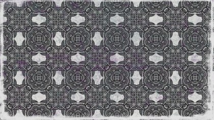 Black and Grey Seamless Ornamental Pattern Background