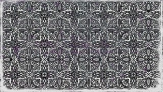 Black and Gray Decorative Floral Ornament Background Pattern Design Template