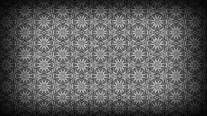Black and Grey Flower Background Pattern