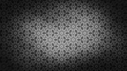Black and Gray Ornament Background Pattern Design Template