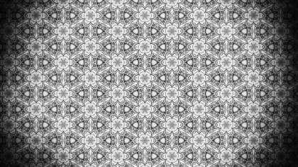 Black and Gray Seamless Ornament Background Pattern Design Template