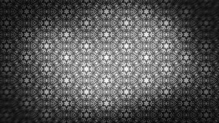 Black and Gray Floral Seamless Pattern Wallpaper Design