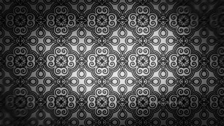 Black and Grey Ornamental Pattern Wallpaper