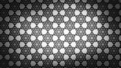 Black and Grey Decorative Ornament Wallpaper Pattern