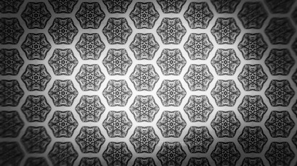 Black and Gray Ornament Wallpaper Pattern Design Template