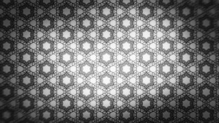 Black and Grey Seamless Floral Wallpaper Pattern