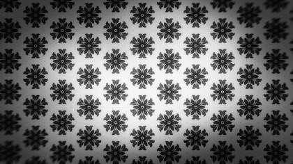 Black and Grey Floral Wallpaper Background