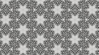 Black and Gray Vintage Ornament Wallpaper Pattern Design