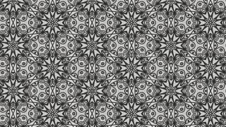 Black and Grey Vintage Seamless Floral Wallpaper Pattern