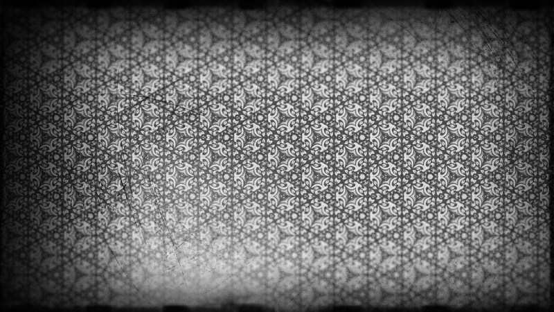 Black and Grey Ornamental Vintage Background Pattern