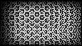 Black and Gray Vintage Floral Seamless Pattern Background Graphic