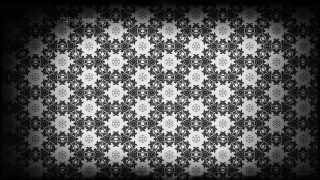 Black and Gray Vintage Decorative Floral Seamless Pattern Wallpaper Design