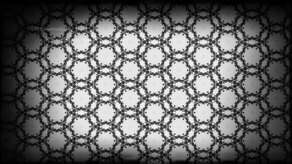 Black and Gray Vintage Floral Seamless Pattern Wallpaper Design Template