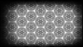 Black and Grey Vintage Decorative Ornament Wallpaper Pattern
