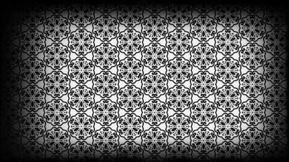 Black and Grey Vintage Decorative Floral Pattern Background
