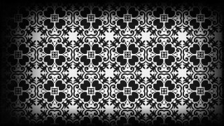 Black and Gray Vintage Ornamental Seamless Pattern Background Design
