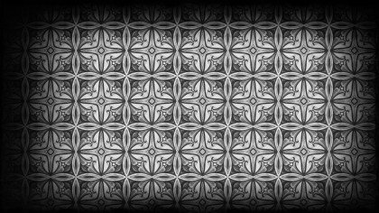 Black and Gray Vintage Decorative Floral Ornament Background Pattern Design Template