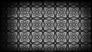 Black and Gray Vintage Decorative Floral Ornament Wallpaper Pattern Image