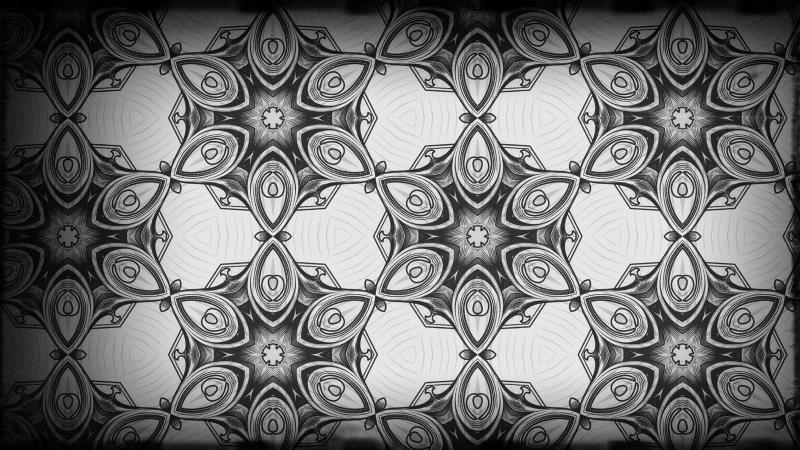 Black and Gray Vintage Ornamental Seamless Pattern Background Design