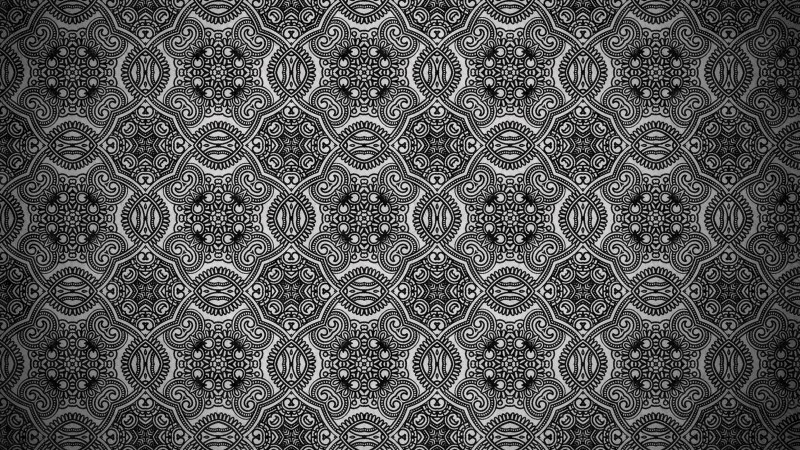 Black and Gray Vintage Seamless Ornament Background Pattern Graphic