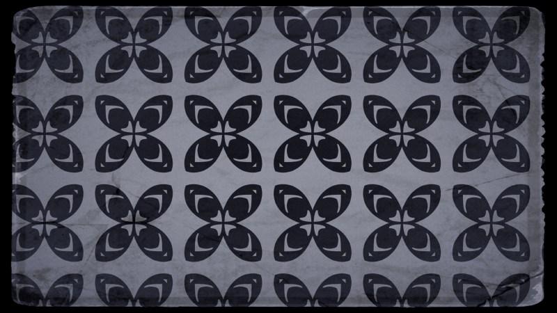Black and Gray Vintage Decorative Floral Seamless Pattern Wallpaper Design