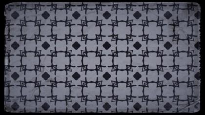 Black and Grey Vintage Floral Pattern Wallpaper
