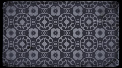 Black and Grey Vintage Floral Wallpaper Background