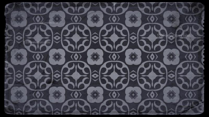 Black and Grey Vintage Floral Wallpaper Background
