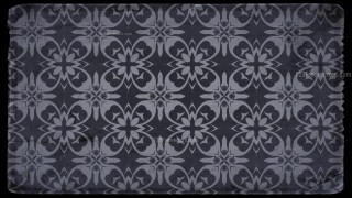 Black and Gray Vintage Floral Pattern Texture Background Template