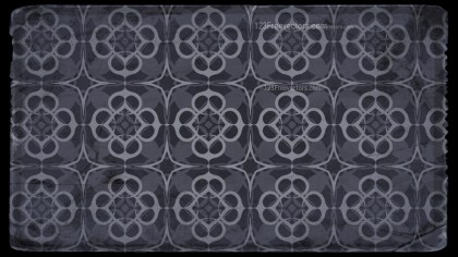 Black and Grey Vintage Decorative Floral Pattern Background