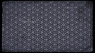 Black and Grey Vintage Floral Pattern Background
