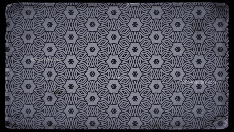 Black and Grey Vintage Decorative Ornament Background Pattern
