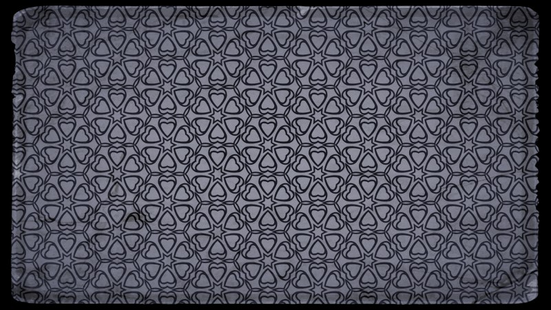 Black and Gray Vintage Floral Ornament Background Pattern Template