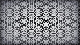 Black and Grey Vintage Ornamental Pattern Wallpaper