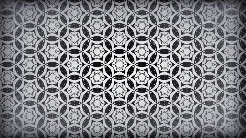 Black and Grey Vintage Ornamental Pattern Wallpaper