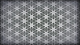 Black and Grey Vintage Seamless Ornamental Pattern Wallpaper