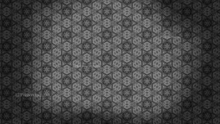 Black and Gray Vintage Decorative Floral Seamless Pattern Background Image