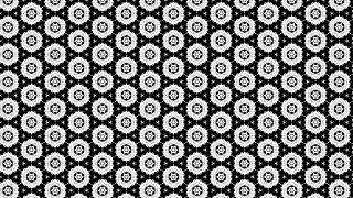 Black and Grey Floral Seamless Geometric Pattern Background Template