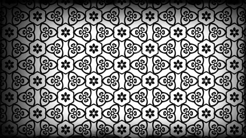 Black and Grey Decorative Geometric Seamless Background Pattern Graphic