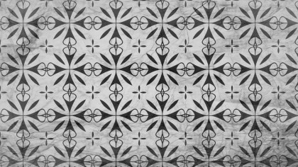 Black and Grey Decorative Seamless Wallpaper Pattern Graphic