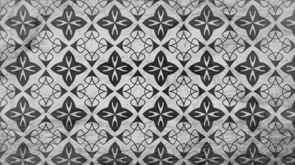 Black and Gray Geometric Ornament Seamless Wallpaper Pattern