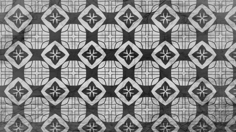 Black and Grey Geometric Ornament Wallpaper Pattern Design