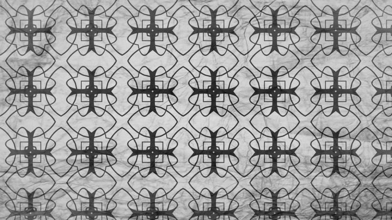 Black and Grey Geometric Ornament Seamless Background Pattern Design