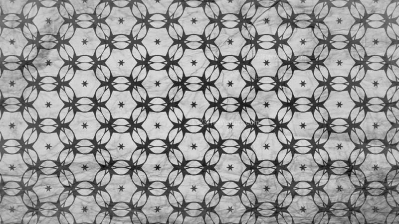 Black and Gray Decorative Seamless Pattern Wallpaper